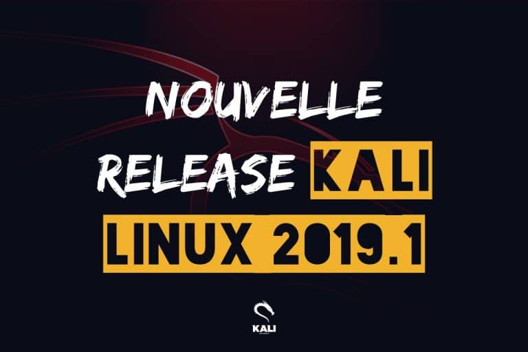 Nouvelle version kali linux 201901