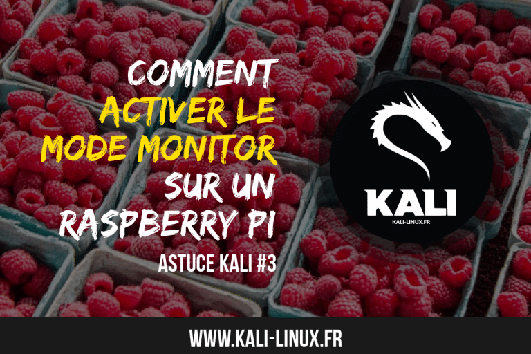 comment activer le mode monitor raspberrypi